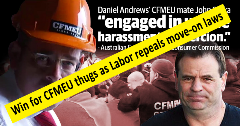 CFMEU win as move-on laws repealed