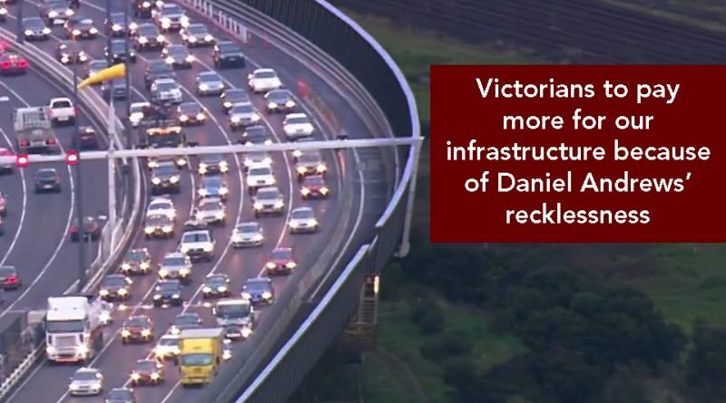 Victorians to pay more for infrastructure
