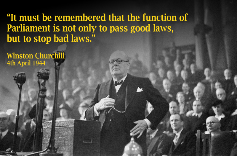 Winston Churchill Function_of_Parliament_4 April_1944