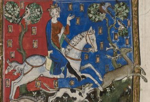 King John hunting a stag