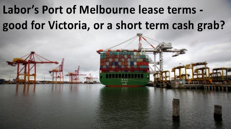 Port of Melbourne cash grab