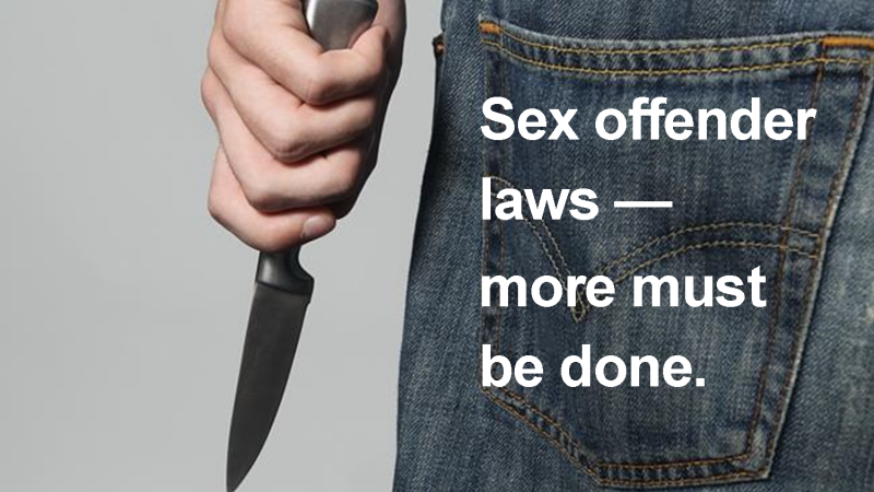 Sex offender laws - more must be done
