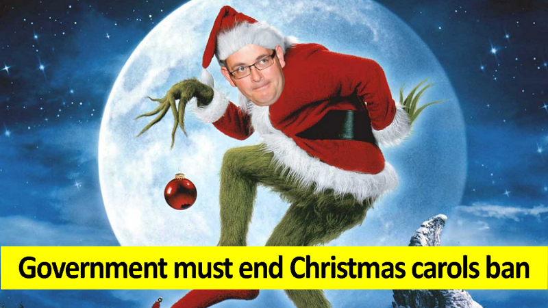 Government must end Christmas carols ban