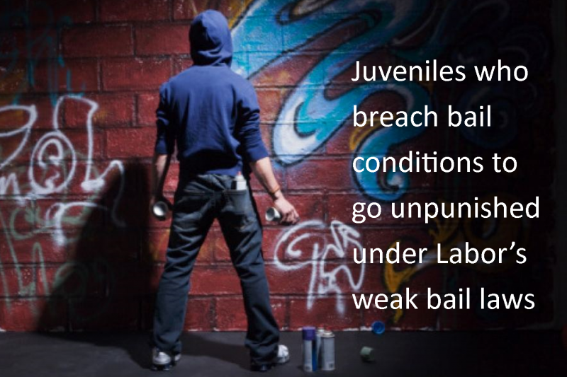 Juveniles who breach bail conditions to go unpunished