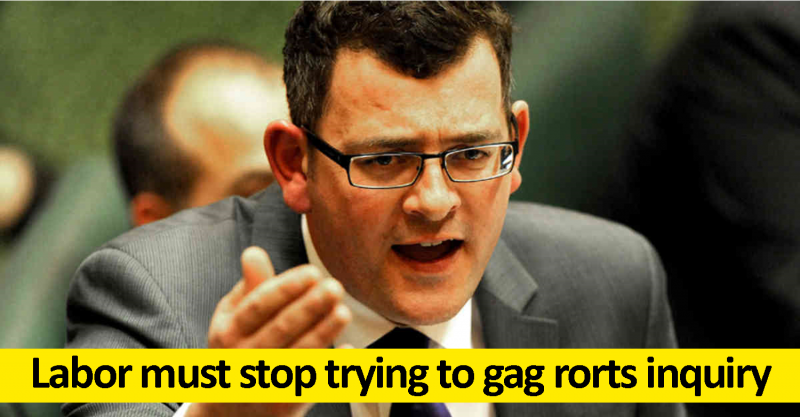 Labor must stop trying to gag rorts enquiry