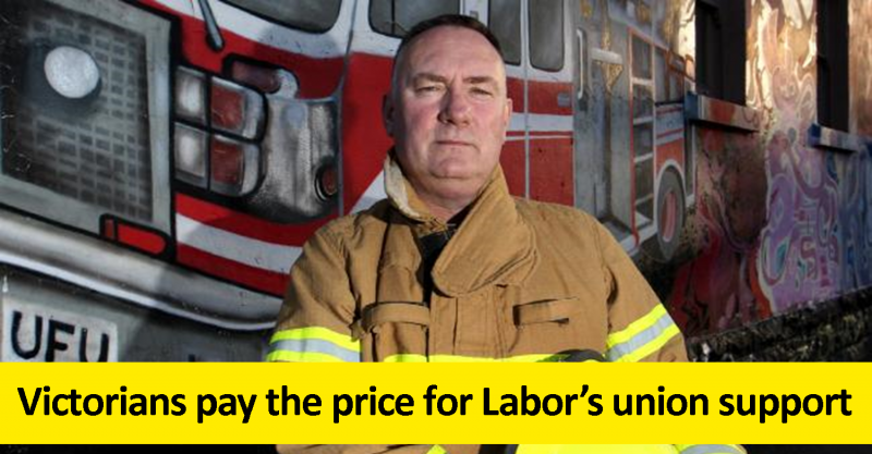 Victorians pay the price for Labor's union support