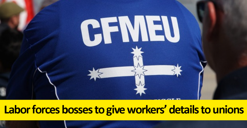 Labor forces bosses to give workers details to unions