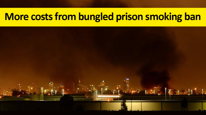 More costs from bungled prison smoking ban