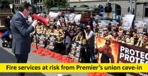 Premier moves to surrender to fire union demands