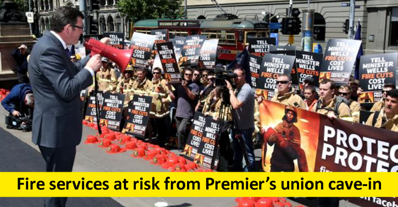 Premier moves to surrender to fire union demands