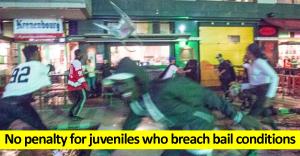 No penalty for juveniles who breach bail