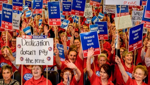 Nurses' rally