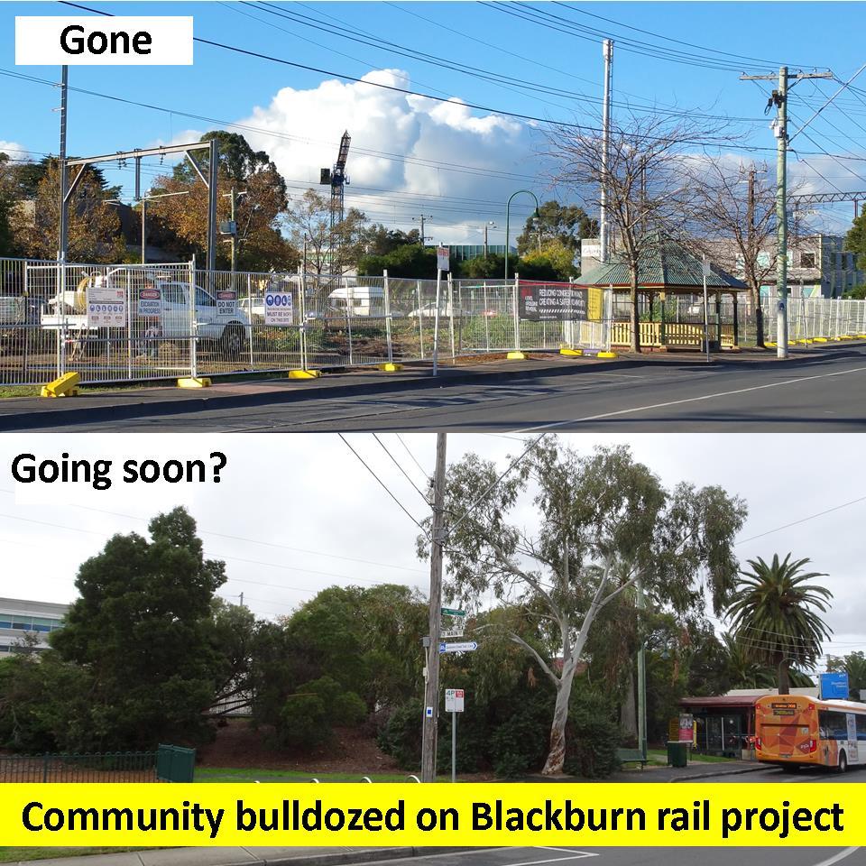 Community bulldozed on Blackburn rail project