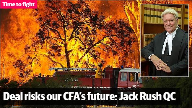 Deal risks CFA's future - Jack Rush QC