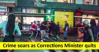 Crime soars as Corrections Minister quits
