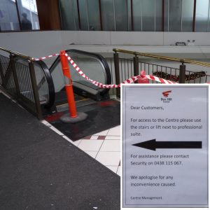 Lift stays broken at transport interchange