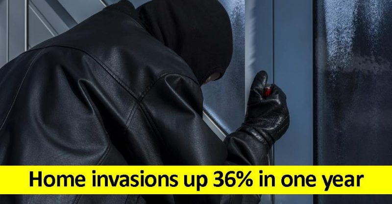 Home invasions up 36 per cent in a year