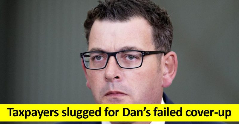 Taxpayers pay for Dan's coverup