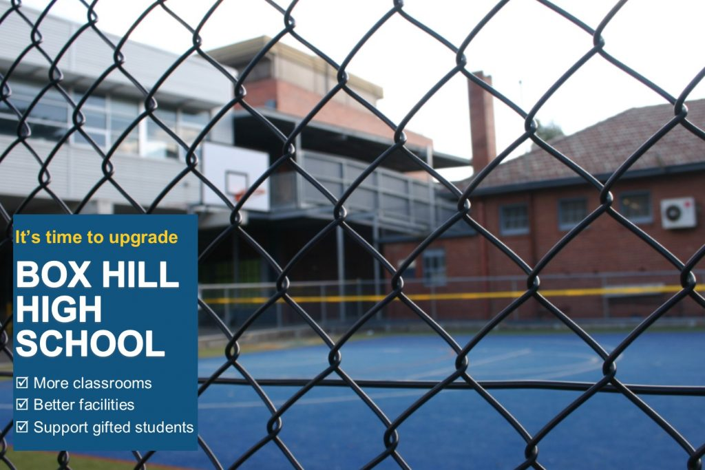 It's time to upgrade Box Hill High School