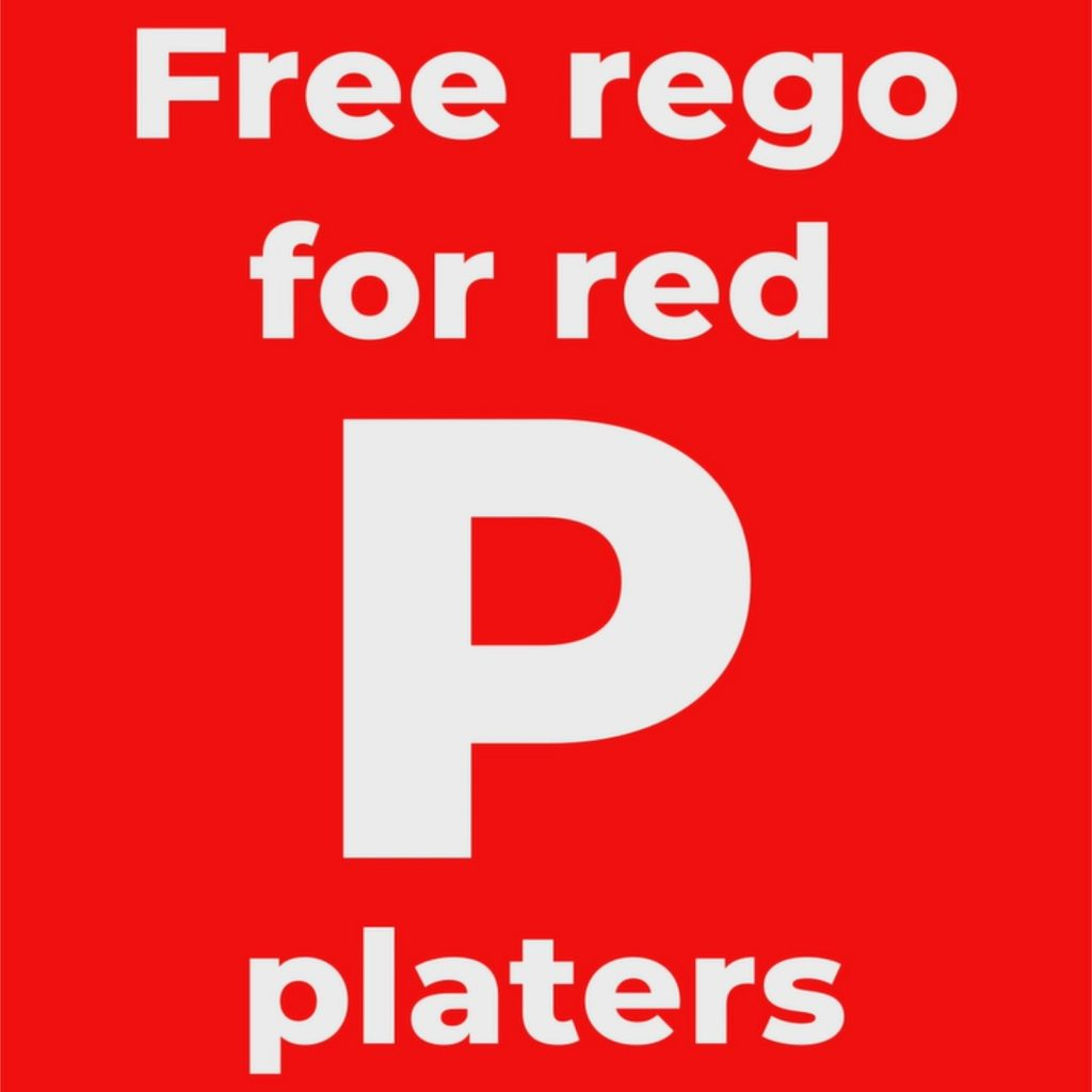Free rego for red P platers