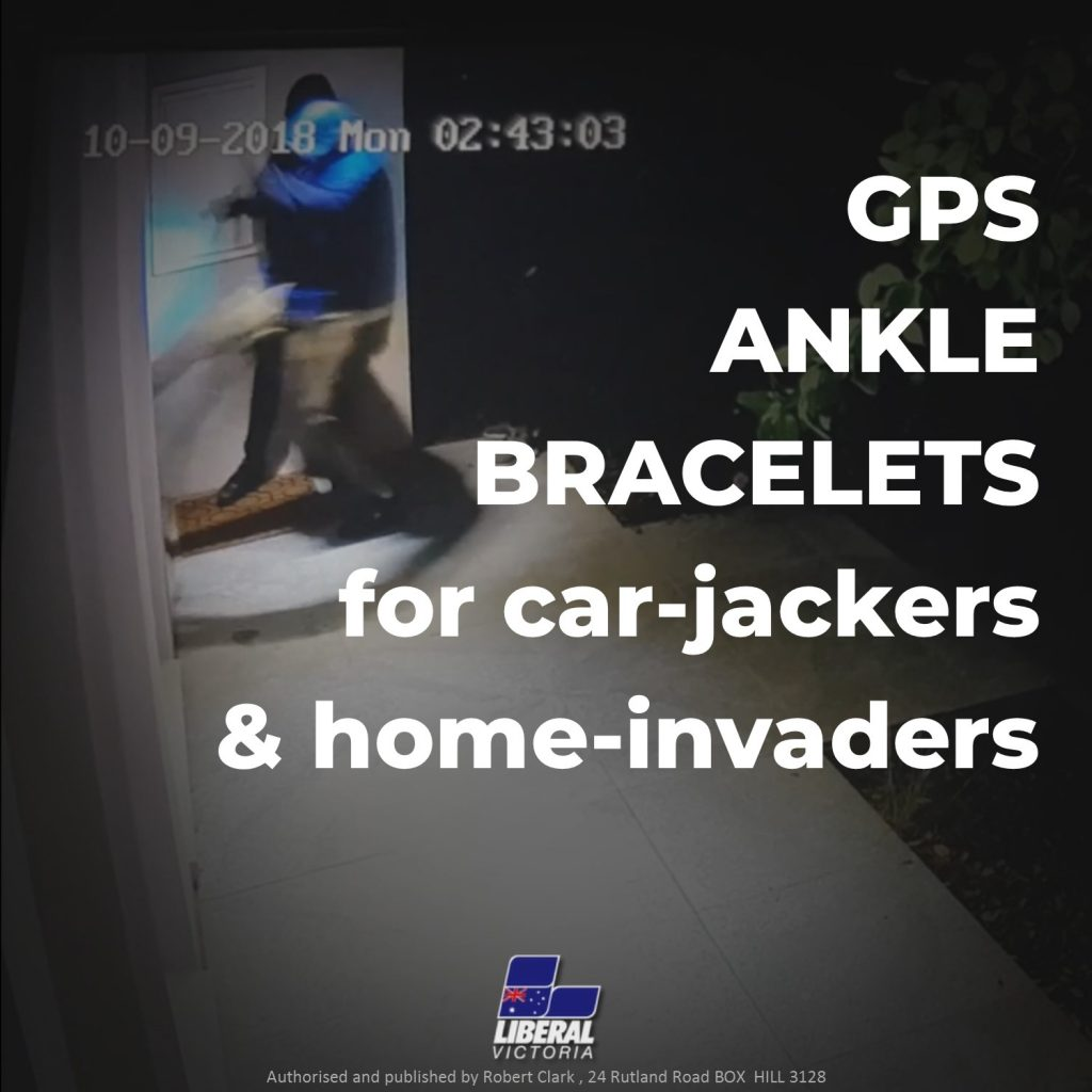 GPS ankle bracelets for car-jackers and home-invaders