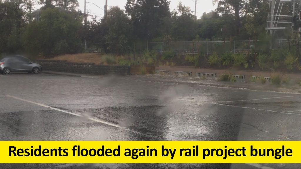 Residents flooded again by rail project bungle