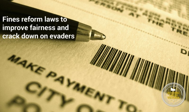 Fines reforms to improve fairness