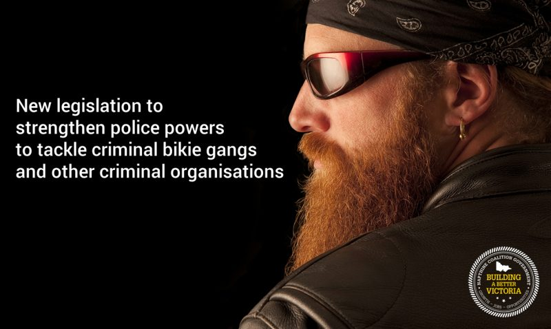 New legislation to strengthen police powers against bikie gangs