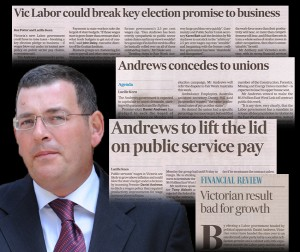 Andrews concedes to unions