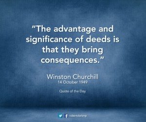 Winston Churchill deeds and consequences