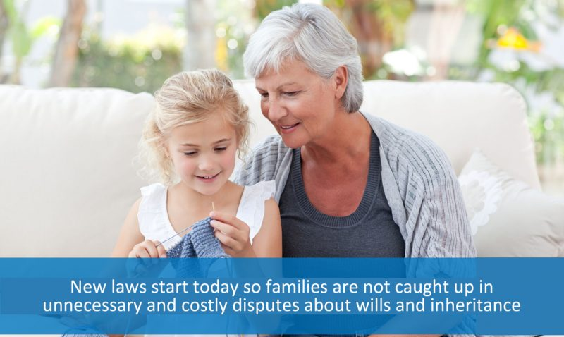 New wills laws start today