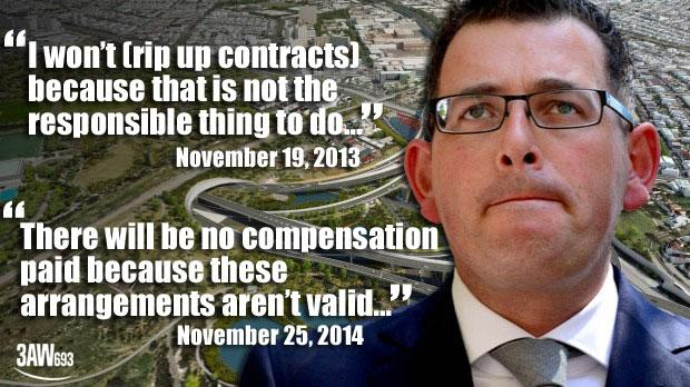 Andrews false claims on East-West Link