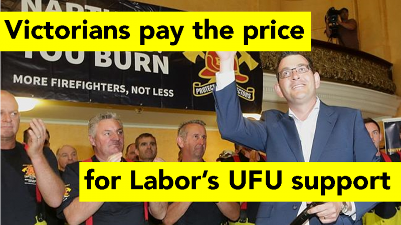 Victorians pay the price for Labor's UFU support