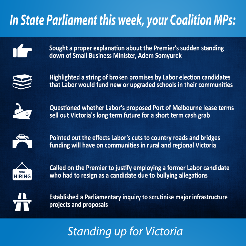 This week in State Parliament 28 May 2015