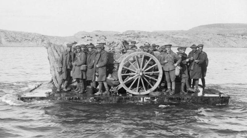 Gallipoli evacuation raft
