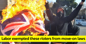 Labor exempted these rioters from move on laws