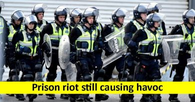 Prison riot still causing havoc